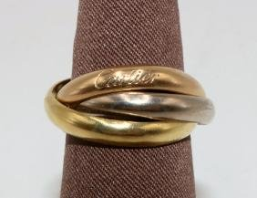 "Cartier ""trinity"" 18kt Tri-color Ring"