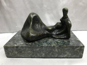 Henry Moore English Bronze Reclining Sculpture