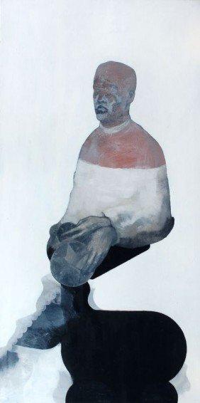 Hans Bohlmann, Ohne Titel (Der Sternenwahrer). 1996