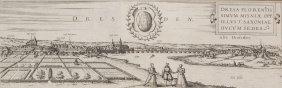 "Georg Braun & Franz Hogenberg ""Dresden"". Um 1580."