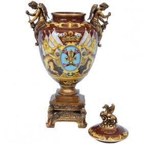 Large Coat Of Arms Vase