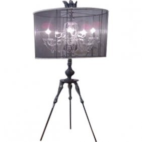 Crystal Light Wsilver Tripod