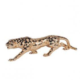 Gilt Leopard Sculpture Free Shipping