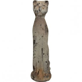*po*32in Ceramic Cat - Rusty W Free Shipping