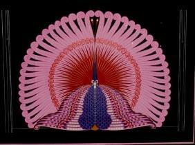 Erte (1892-1990) French Color Serigraph, Phoenix