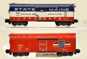 American Flyer S-Gauge 24029 And 24425 Freight Car