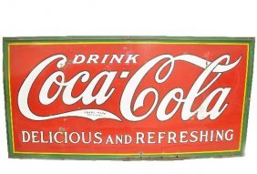 Large 1932 Coca-Cola Metal Sign