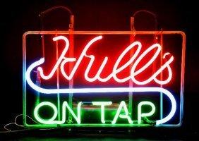 Vintage Hulls Neon Beer Sign