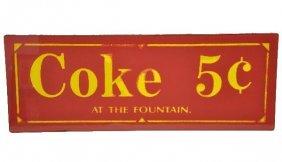 Unusual Glass Coke Sign