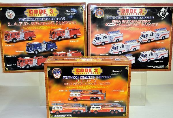 Toys toy boxes and fire trucks on pinterest - 361 3 Ln Code 3 Fire Truck Boxed Sets Lot 361