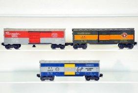 3 Lionel Boxcars