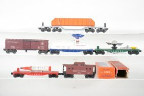 Clean Lionel Space & Freight Cars