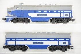 Lionel 2367 Wabash F3 Ab Diesels