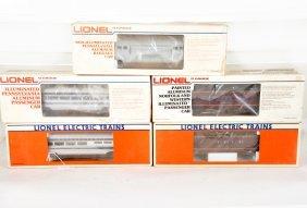 Lionel Aluminum Streamline Passenger Cars