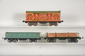 Lionel 511, 512 & 513 Freight Cars