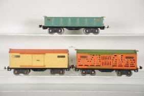 Clean Lionel 512, 513 & 514 Freight Cars