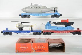 Clean Boxed Lionel 3419, 6650 & 3830 Space Cars