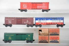 4 Boxed Lionel 6464 Boxcars