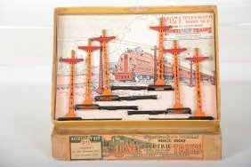 Boxed Early Lionel 071 Telegraph Pole Set
