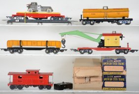 Super American Flyer 3/16 O Freights, Some Boxed