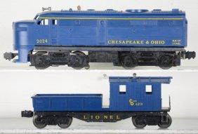 Lionel 2024 & 6219 C&o Diesel & Caboose