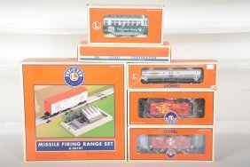 Lionel Freight Cars & Missile Launcher