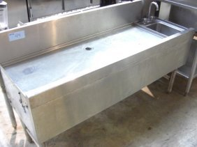 "Leftside 48"" DrainBoard W/Rightside 1comp. S/S Sink"