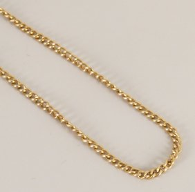 15ct Gold Close Curb Link Guard Chain. Length - 174