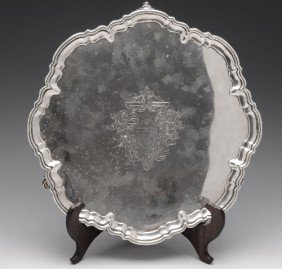 A Late Victorian Silver Salver.