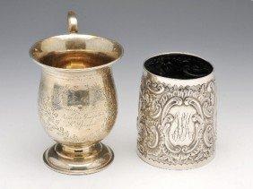 A Victorian Silver Christening Mug.