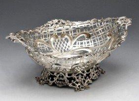 A Victorian Silver Pierced Dish.