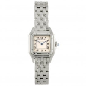 A Stainless Steel Quartz Lady's Cartier Panthere Br