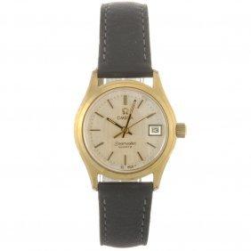 A Gold Plated Quartz Lady's Omega Seamaster Wrist
