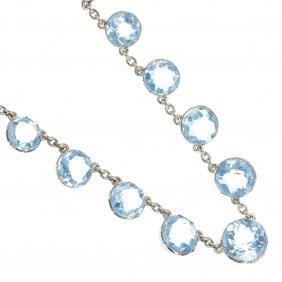 An Aquamarine Necklace.