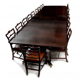 an impressive reproduction mahogany dining or boardroom lot 1104