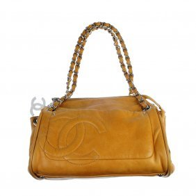 Tan Matelasse Caviar Leather Chain Shoulder Bag 76