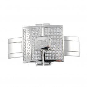 De Grisogono - An 18ct White Gold Deployant Clasp.