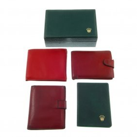 A Selection Of Rolex Branded Wallets, Pads And Document