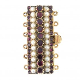 An Early 20th Century Gold Foil-back Garnet And Split
