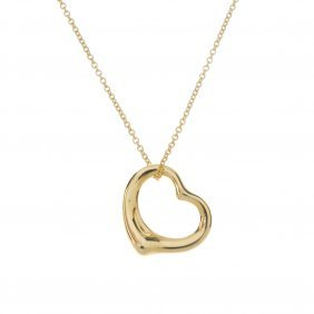 Tiffany & Co. - An 18ct Gold 'open Heart' Pendant, By