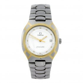 Omega - A Gentleman's Seamaster Polaris Bracelet Watch.