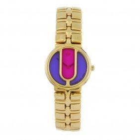 Raymond Weil - A Lady's Traviata Bracelet Watch. Gold