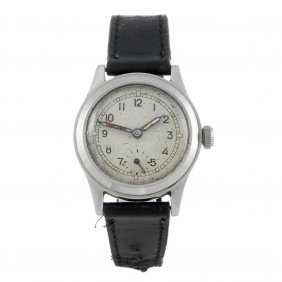 Enicar - A Gentleman's Military Wrist Watch. Stainless