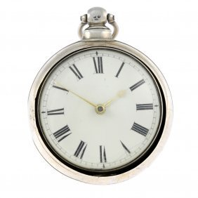 A Pair Case Pocket Watch By G.wilson. Silver Cases,