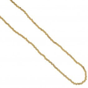 A Late 19th Century 15ct Gold Necklace. Designed As A
