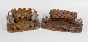 Two Late 19th Century Black Forest Style Carved Wooden