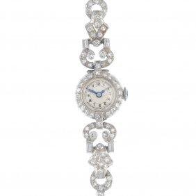 A Lady's Early 20th Century Manual Wind Diamond