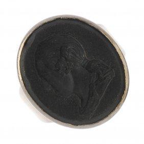 Wedgwood - A Mid Georgian Silver Gilt Seal Ring, Circa