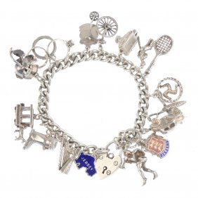 Two Charm Bracelets. One Single And One Double