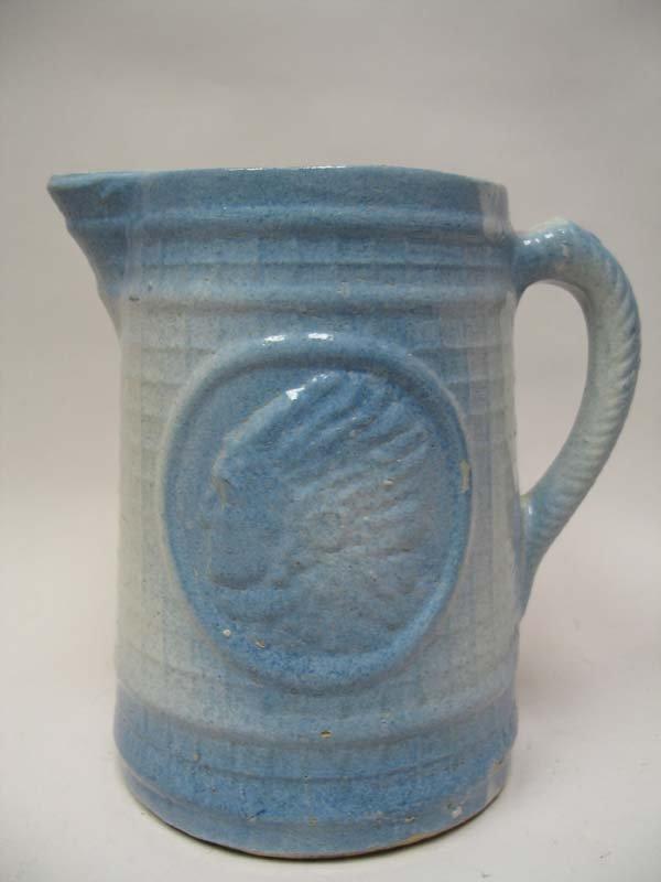 422 Pottery Buttermilk Pitcher Indian Head Lot 422